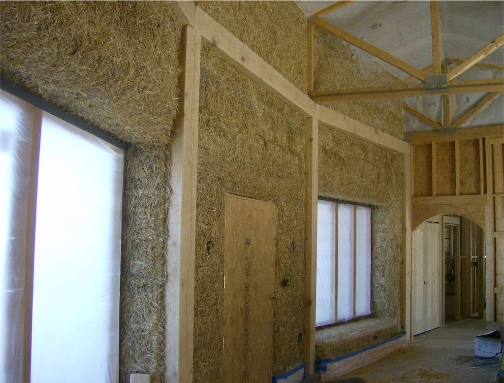 Adobe Plaster Or Conventional Stucco Straw Bale