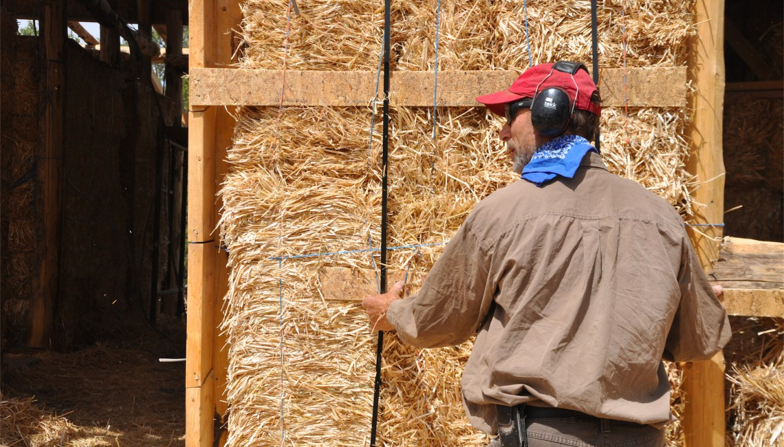 Cadmon's Technique for Joining Stuco Netting to Straw Bales