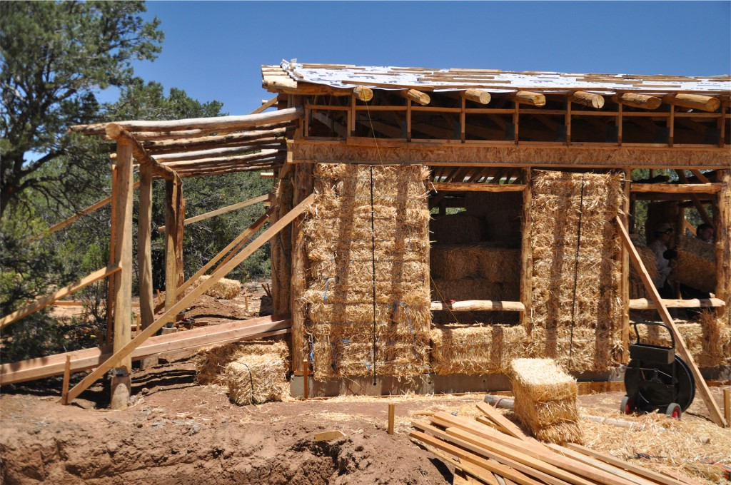 Straw Bale Viga Porch