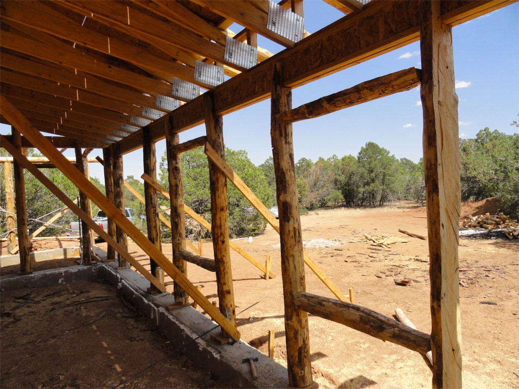 straw bale expert blog paja construction vigas and windows south face of straw bale house