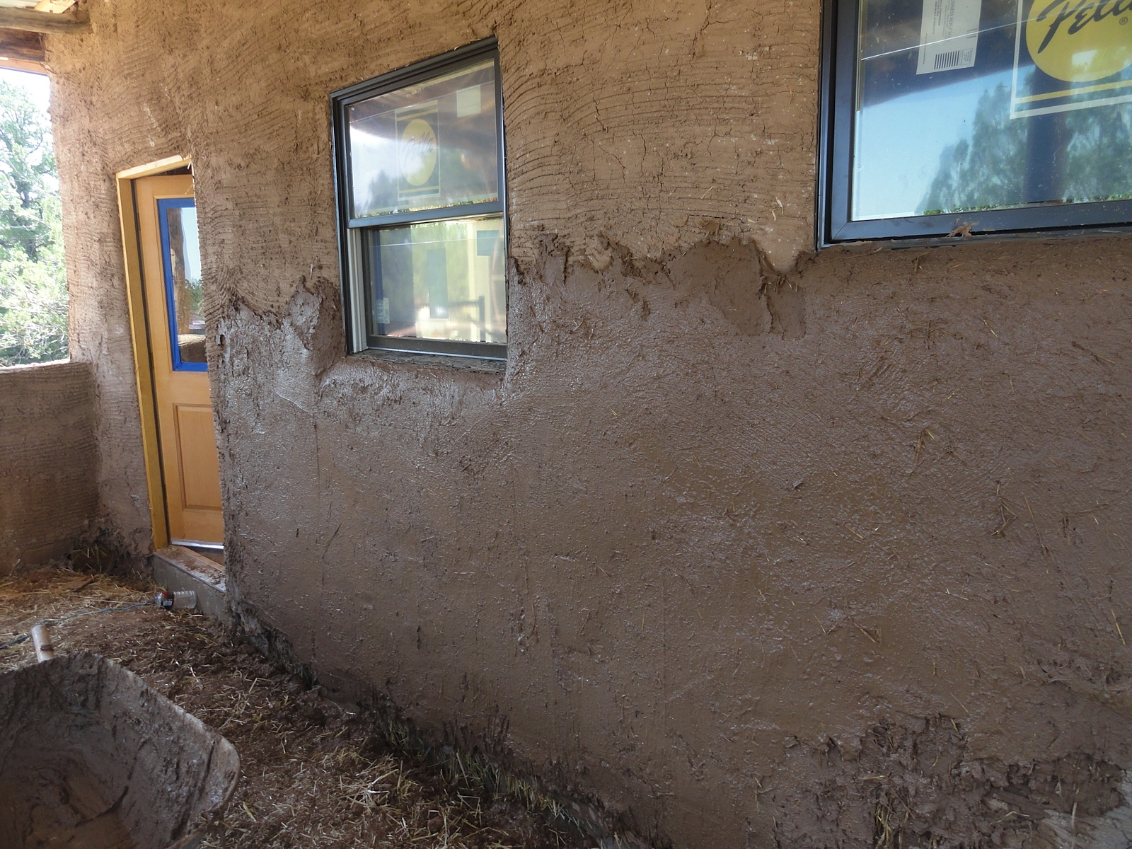 Plaster Wall Construction : Adobe plaster or conventional stucco straw bale